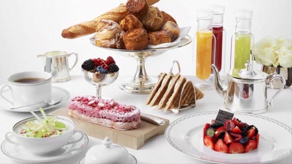 Breakfast at a Peninsula Hotel