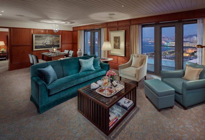 Tamar Suite Living Room at Mandarin Oriental Hong Kong